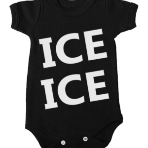 ice ice babygrow onesie black short sleeve