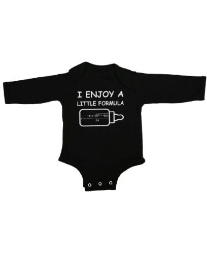 a little formula baby black long sleeve