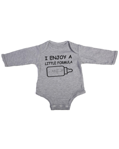 a little formula baby grey long sleeve