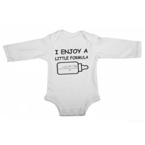 a little formula baby white long sleeve