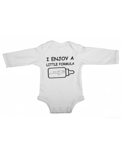 a little formula baby white long sleeve