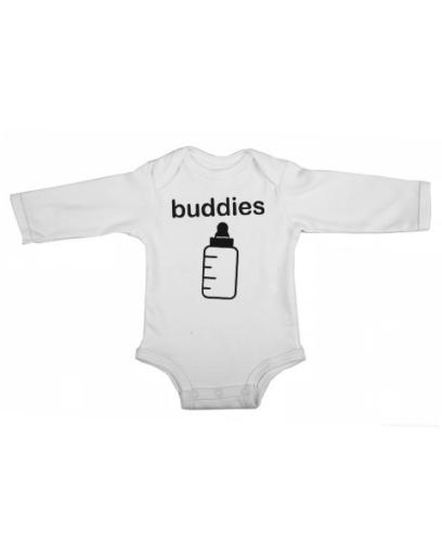 buddies baby white long sleeve