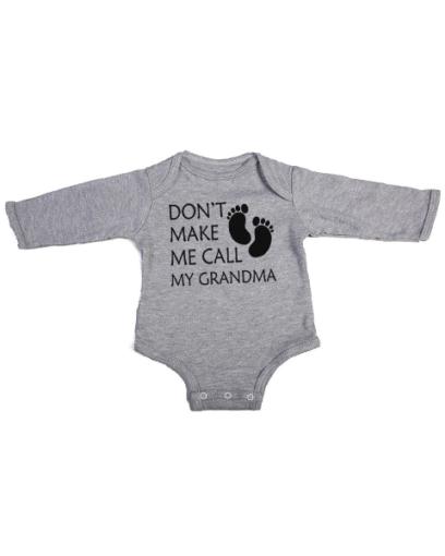 call my grandma baby grey long sleeve