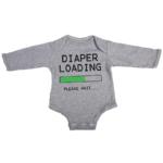 diaper loading baby grey long sleeve