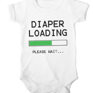 diaper loading baby white