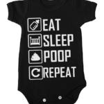 eat sleep poop repeat baby black