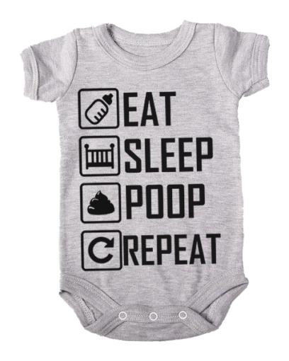 eat sleep poop repeat baby grey