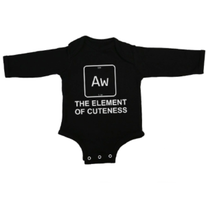 element of cuteness baby black long sleeve
