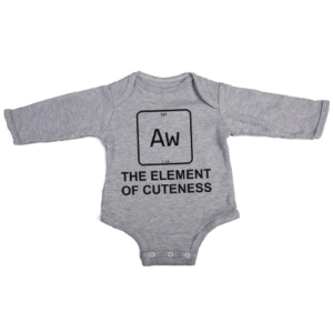 element of cuteness baby grey long sleeve