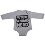 future anime nerd baby grey long sleeve