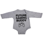 future gaming buddy baby grey long sleeve