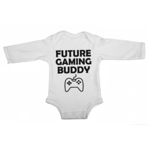 future gaming buddy baby white long sleeve