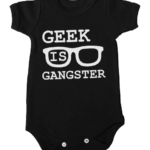 geek is gangster baby black