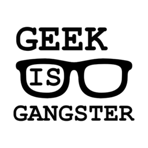 geek is gangster grey square