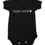 hello world baby black