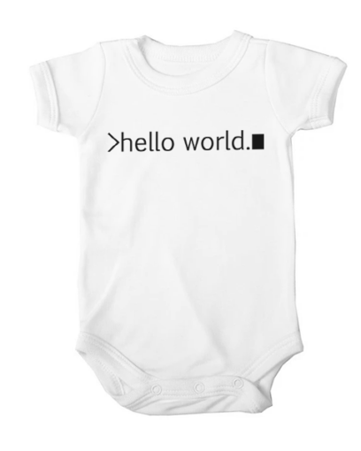 hello world baby white