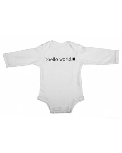 hello world baby white long sleeve