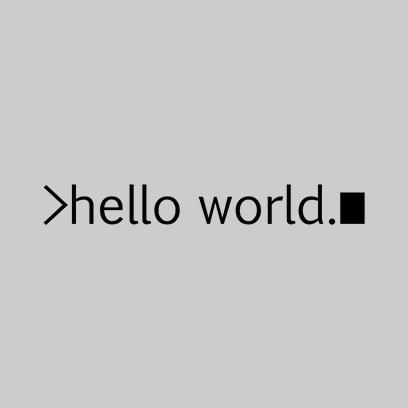 hello world grey square