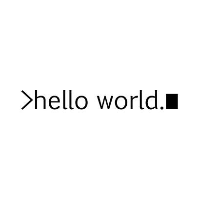 hello world white square