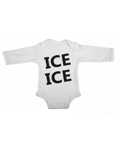 ice ice baby white long sleeve