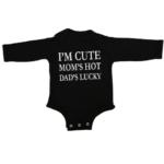 im cute baby black long sleeve