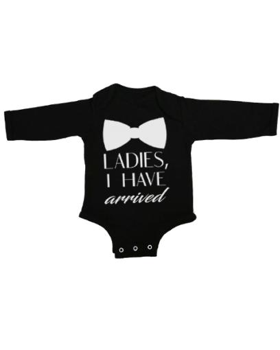 ladies ive arrived baby black long sleeve