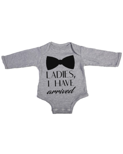 ladies ive arrived baby grey long sleeve