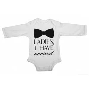 ladies ive arrived baby white long sleeve
