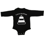 lord of baby rings baby black long sleeve