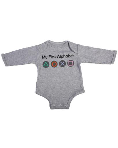 my first alphabet baby grey long sleeve