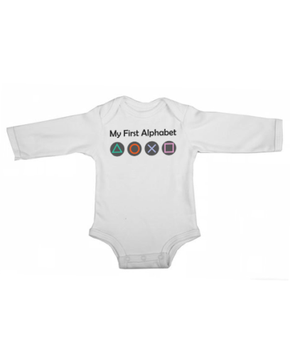 my first alphabet baby white long sleeve