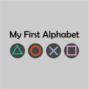 my frst alphabet grey square