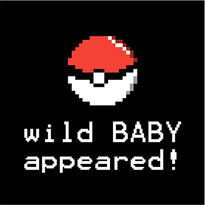 wild baby appeared black square