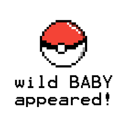 wild baby appeared white square