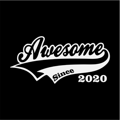 awesome since 2020 black square