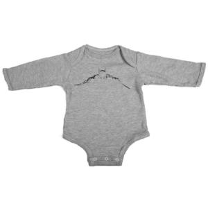 batman silhouette baby grey long sleeve