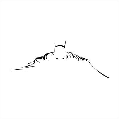 batman silhouette white
