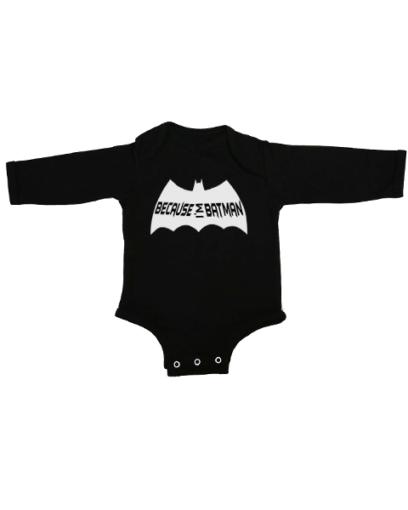because im batman baby black long sleeve