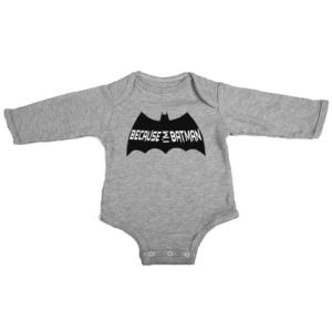 because im batman baby grey long sleeve