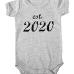 established 2020 baby grey