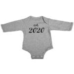 established 2020 baby grey long sleeve