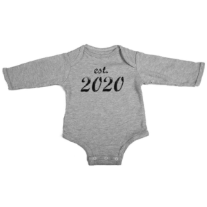 established 2020 baby grey long sleeve