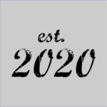 established 2020 grey square