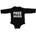 free hugs baby black long sleeve