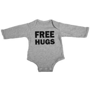 free hugs baby grey long sleeve