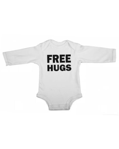 free hugs baby white long sleeve