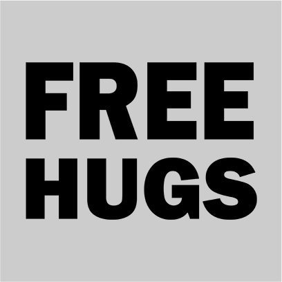 free hugs grey square
