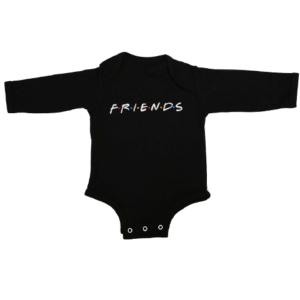 friends baby black long sleeve