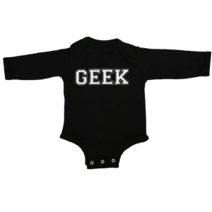 geek baby black long sleeve