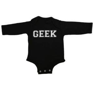 geek baby black long sleeve